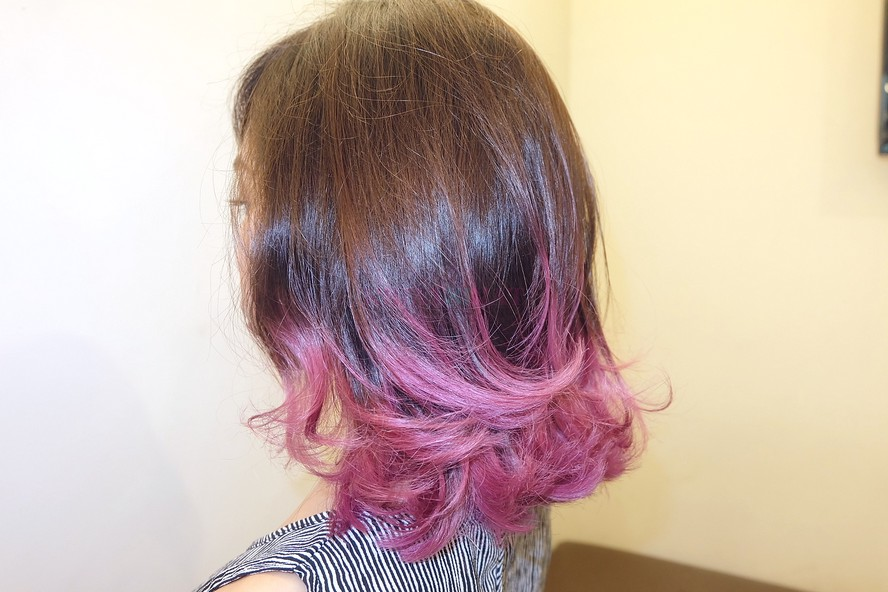 How I Got Purple Ombre For My Short Hair
