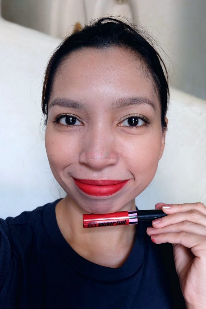 pink sugar lip and cheek tint in code red