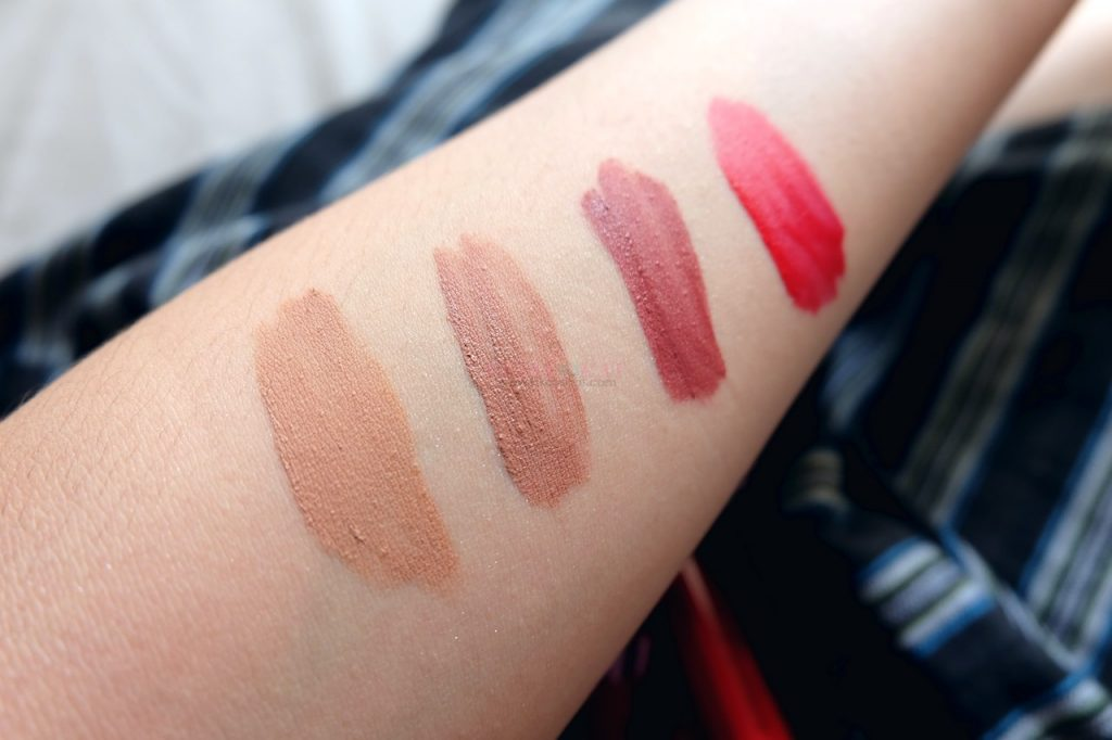 pink sugar lip and cheek tint swatches