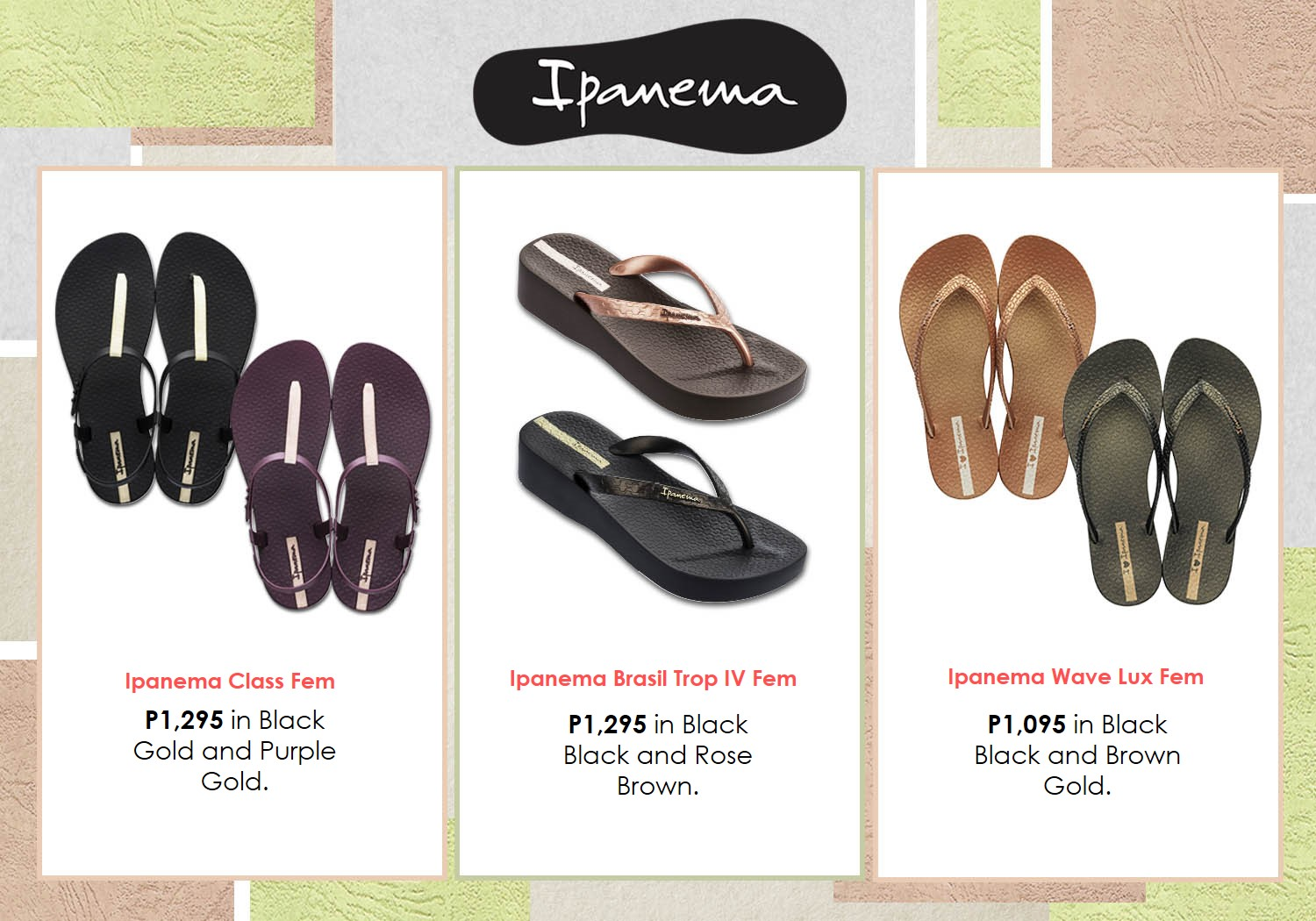 521b253ddbd55 STYLE  Dark and Daring Collection from Ipanema