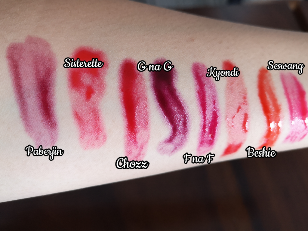 Vice Water Gel Lip and Cheek Tint swatches review