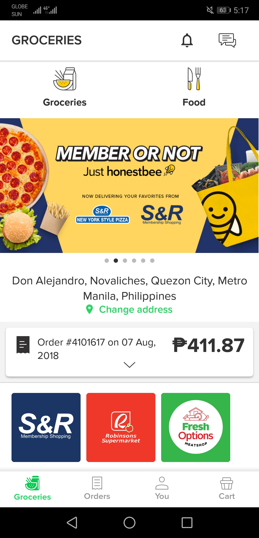 S&R Delivery Honestbee