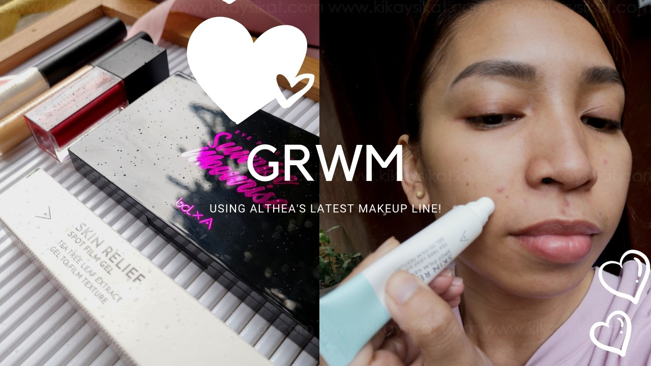 Grwm Tutorial Review Using Althea Korea S Newest Makeup Line Kikaysikat Usually found in social media accounts. grwm tutorial review using althea