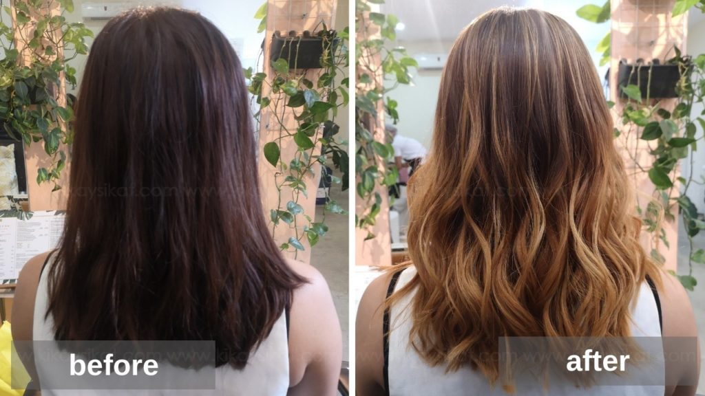 Ombre Bayalage Before and After
