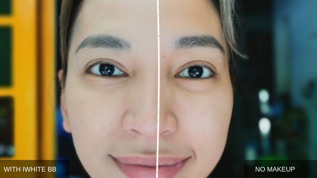 BEFORE AND AFTER - IWHITE BB CREAM